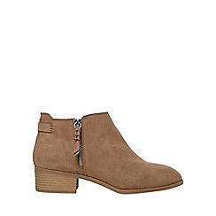 Dorothy Perkins - Wide fit beige major ankle boots