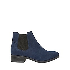 Dorothy Perkins - Navy widefit monty chelsea boots
