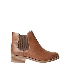 Dorothy Perkins - Wide fit tan monty ankle boots