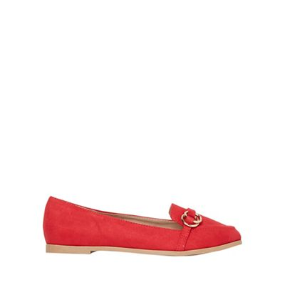 Dorothy Perkins - Wide fit red light loafers
