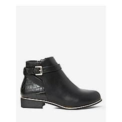 Dorothy Perkins - Wide fit black crocodile mayan boots