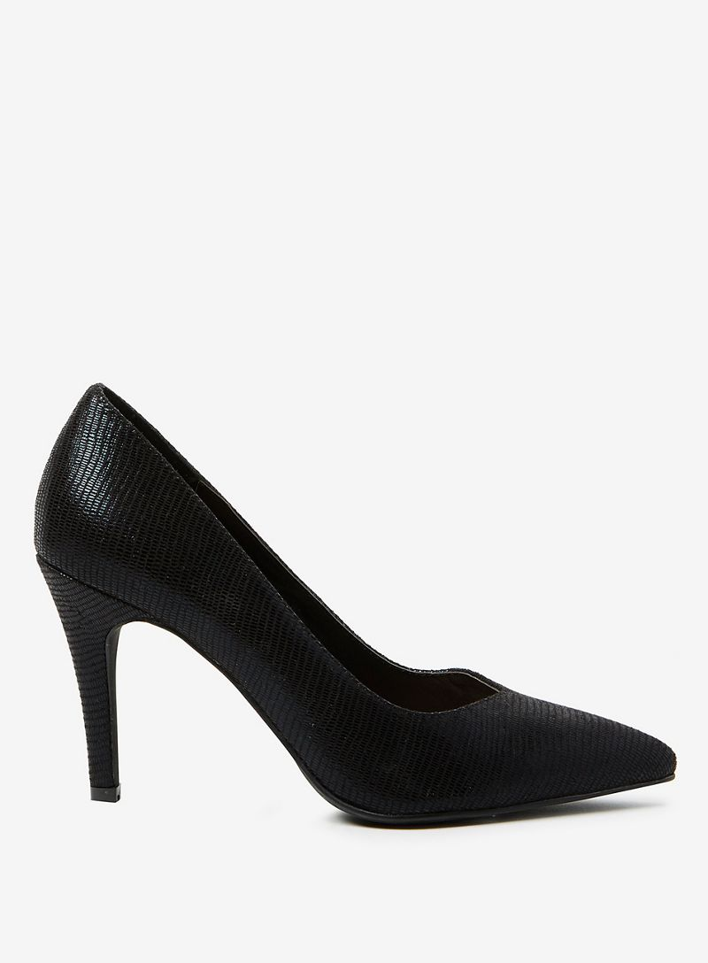 Dorothy Perkins - Wide Fit Black Microfibre Drake Court Shoes