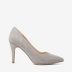 Dorothy Perkins - Wide fit grey microfiber drake court shoes