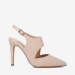 475e6e1f2926 Dorothy Perkins - Wide fit nude microfibre geometric court shoes