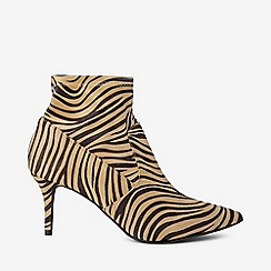 Dorothy Perkins - Wide fit zebra print motion boots