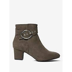 Dorothy Perkins - Wide fit grey argo buckle boots