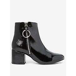 Dorothy Perkins - Wide fit black amelie zip boots