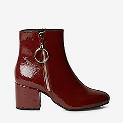 Dorothy Perkins - Wide fit burgundy amelie zip boots