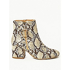 Dorothy Perkins - Wide fit multi coloured amelie ring zip ankle boots