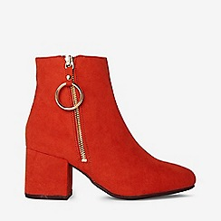 Dorothy Perkins - Wide fit red amelie boots