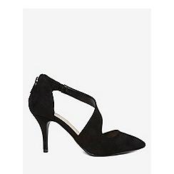 Dorothy Perkins - Wide fit black microfibre ella court shoes