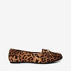 Dorothy Perkins - Wide fit leopard print lair loafers