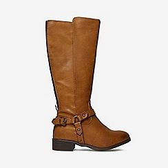 Dorothy Perkins - Tan wide fit talia riding boots