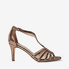 Dorothy Perkins - Wide fit bronze bethanie sandals