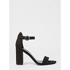 Dorothy Perkins - Black shimmy block heel sandals