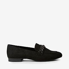 Dorothy Perkins - Wide fit black laser loafers
