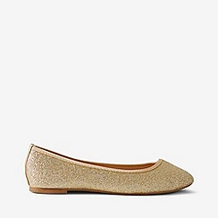 Dorothy Perkins - Wide fit gold prism ballerina pumps