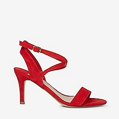 Dorothy Perkins - Wide fit red samia microfibre heeled sandals