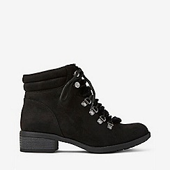 Dorothy Perkins - Wide fit black abbie lace up boots