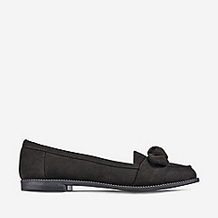 Dorothy Perkins - Black Leah Bow Loafers