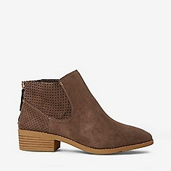 Dorothy Perkins - Wide Fit Brown Mackenzie Ankle Boots