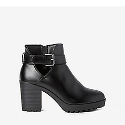 Dorothy Perkins - Wide fit black pu aminnie boots