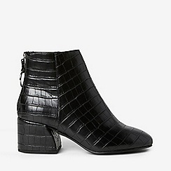 Dorothy Perkins - Wide Fit Black Adore Heeled Boots