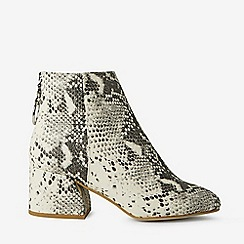 Dorothy Perkins - Wide Fit Multi Coloured Snake Print Adore Ankle Boots