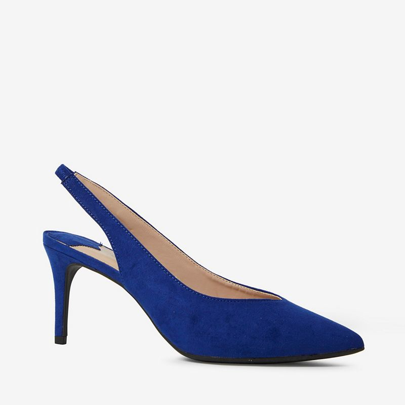 Dorothy Perkins - Wide Fit Blue Essie Court Shoes