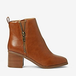 Dorothy Perkins - Wide Fit Tan Alceed Ankle Boots
