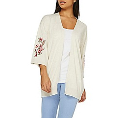 Dorothy Perkins - Oatmeal embroidered cardigan