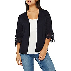 Dorothy Perkins - Navy lace cuff cardigan