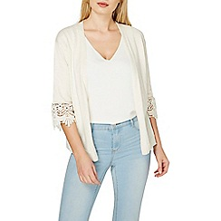 Dorothy Perkins - Oatmeal lace sleeve cardigan