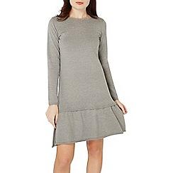 Dorothy Perkins - Grey frill hem knitted dress