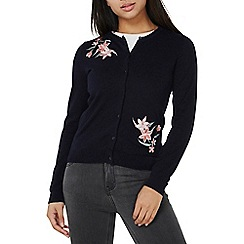 Dorothy Perkins - Navy embroidered cardigan