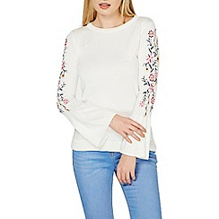Dorothy Perkins - Ivory embroidered jumper