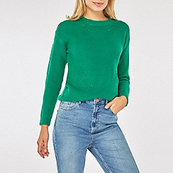 Dorothy Perkins - Green stitch detail jumper