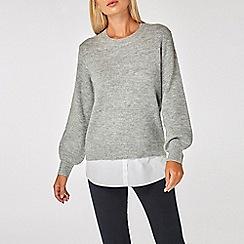 Dorothy Perkins - Grey 2-in-1 jumper