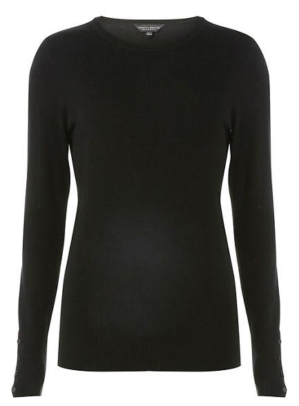 Black jumper detail Dorothy cuff Perkins ST5xqqzCw