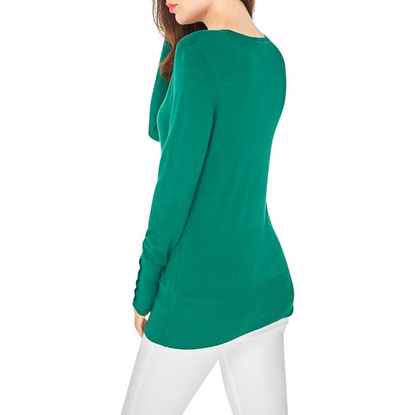 cuff jumper Green detail Perkins Dorothy vq6ZwEY