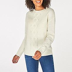 Dorothy Perkins - Cream cable embellished jumper