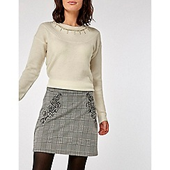 Dorothy Perkins - Ivory embellished neck jumper