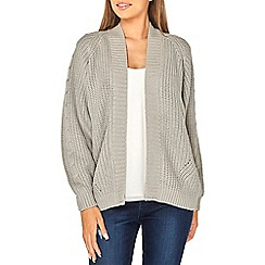 Dorothy Perkins - Grey chunky cable knit cardigan