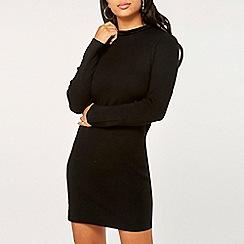 Dorothy Perkins - Black knitted tunic with velvet bow