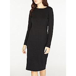 Dorothy Perkins - Black plain knitted dress