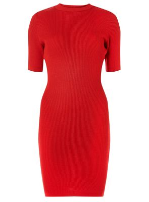 Dorothy Perkins   Red High Neck Knitted Dress by Dorothy Perkins