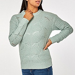 Dorothy Perkins - Mint lofty lurex jumper