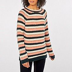 Dorothy Perkins - Green stripe lofty tie back jumper