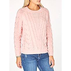 Dorothy Perkins - Pink cable jumper