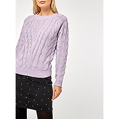 Dorothy Perkins - Lilac bailey cable jumper